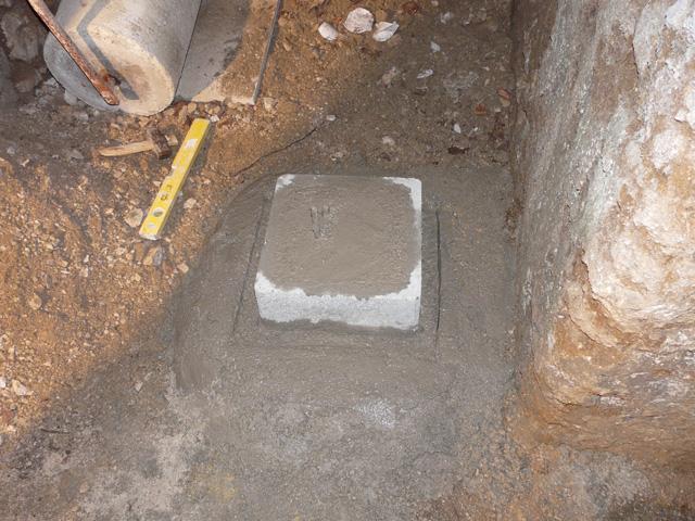 Sensori sismografo Montevergine pilastrino in cemento armato